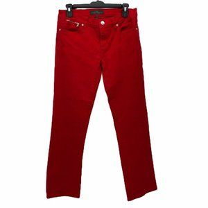 LRL Ralph Lauren Jeans Co Women Straight Leg Red 4